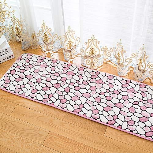 Coral Moderner Teppich (Teppich Home Living Room Rug, Coral Fleece double Rutschfester Staubsauger Schmutziger Moderner Teppich, Ideal für Wohnzimmer Schlafzimmer Balkon Küche von Room Area Teppiche-Pink-60cm*90cm)