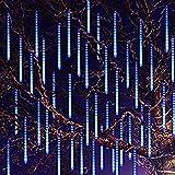 Ceanfly 30cm 8Tube 240LEDs Meteorschauer Lichterkette,Wasserdichte Meteor Shower Lichtermit EU Stecker, Meteorschauer Regen Lichter für Hochzeit Weihnachten Party Garten Baum Hause Dekoration Außen