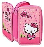 Scooli HKYX0430–Double Decker Stabilo Brand Filled School Pencil Case–Hello Kitty–29Piece