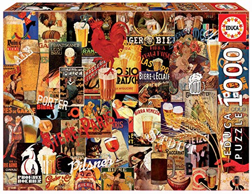 Educa Borras Puzzle Collage De Cerveza Vintage 1000 Piezas (17970)