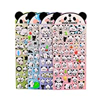 Funcoo 4 Sheets Cute Lovely 3D DIY Decorative Adhesive Sticker Tape/Kids Craft Scrapbooking Sticker Set for Diary, Album
