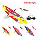 Tenlso Hand Throw Flying Glider Planes, Electric Throwing Foam Airplane Toy With Lights USB Cable Rechargeable Aircraft...