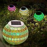 SOLMORE Licht Mosaik Solar Rasen LED Wasserdicht Garden Light Ändern Farbe Glas Lampe Dekoration Schreibtisch Sonne Vase Licht Nacht Romantik Ball ohne Kabel Festival Geschenk beste
