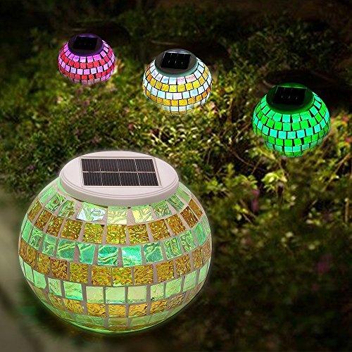 SOLMORE Licht Mosaik Solar Rasen LED Wasserdicht Garden Light Ändern Farbe Glas Lampe Dekoration...