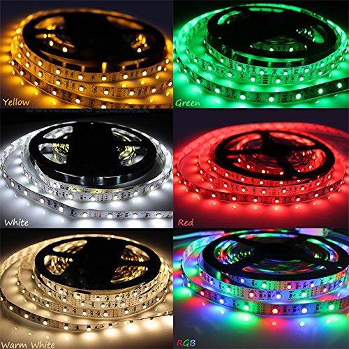 LED-Lichtstreifen, 1 m, 2 m, 3 m, 4 m, 5 m, DC5 V, 60 LEDs, mehrfarbig, 3528 SMD RGB LED, flexibles Lichterkette-Set mit Batteriehülle für Heimdekoration - 4 m Grün