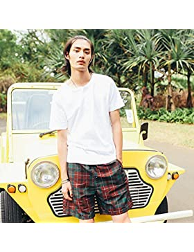 HAIYOUVK Beach Pants,Men'S Shorts,Women'S Couple,Loose,Quick-Drying,Beach Resort,Home Comfort,Shorts,L,Red,Male...