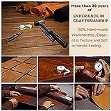 Jisoncase Hülle für iPhone 6 6s, Handytasche in Farbe braun, aus echtem Leder, Zubehör für iPhone 6s 6 Smartphone Tasche (4,7 Zoll (11,9 cm), Lederhülle, JS-I6S-02A20 -