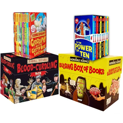 Horrible Collection 60 Books Collection Pack Set RRP: 189.80 (Horrible Geogr...