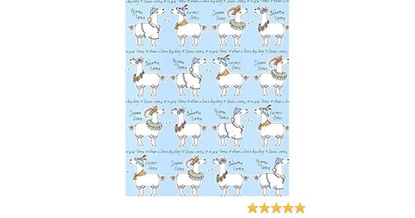 Childrens Kids Nursery Animal Belgravia Decor Llama-rama Sky Wallpaper 9730