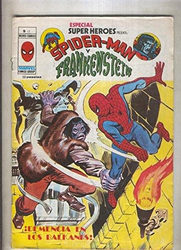 Especial Super Heroes numero 11: Spiderman y Frankenstein (numerado 1 en trasera)