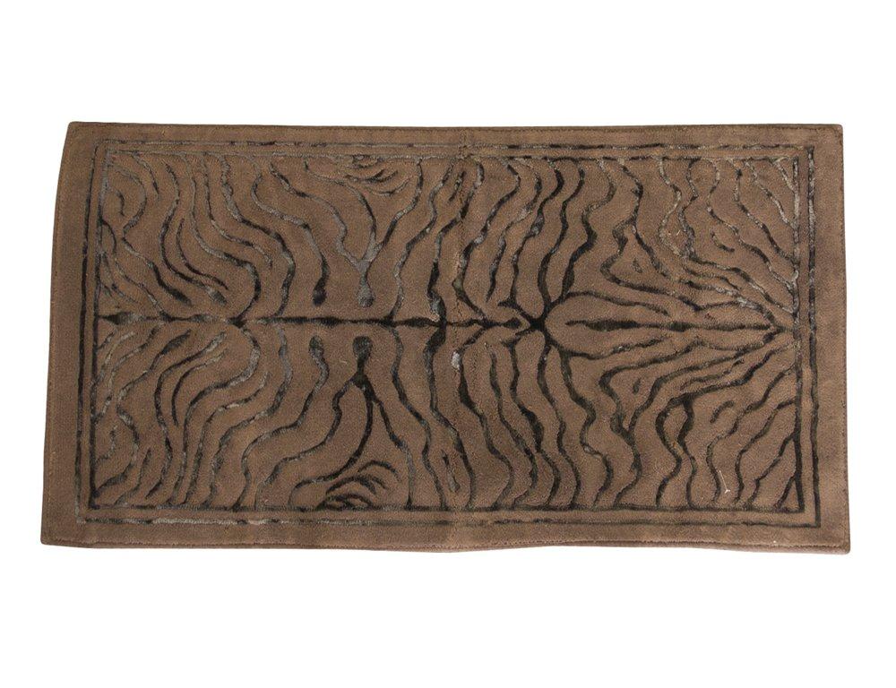 TAPPETO ARREDO BAGNO TIGER ALTA QUALITA' COTONE MULTIUSO TOP LEVEL (CM 60 x 100, VISONE)