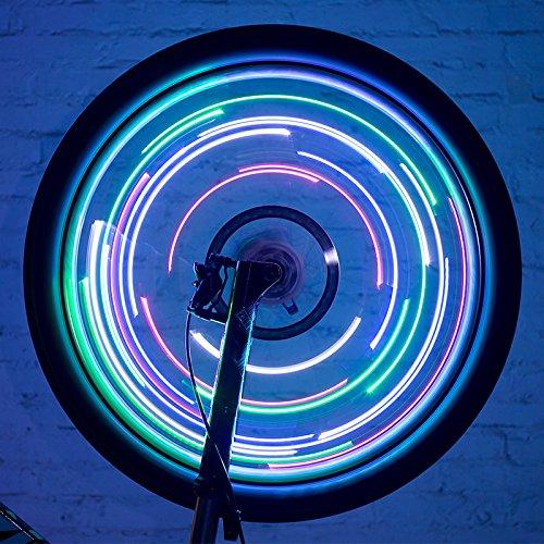 Fahrradspeichen Lampe Fahrradlicht für Reitzubehör , 5 battery blue Rad 5-speichen-felgen Weiß