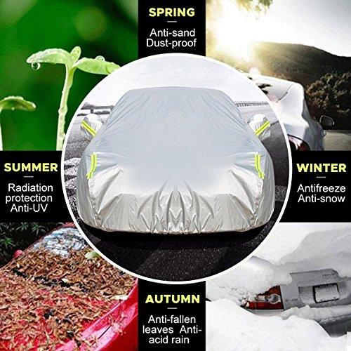 MATCC Bâche voiture Housse de Protection Couverture Etanche avec Sécurités Réfléchissants Bache pour Voiture pour Tous les Saisons(4.7 x 1.8 x 1.5m) Liste de prix