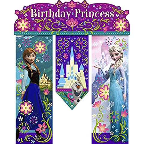 Disney congelado bandera del cumpleaños