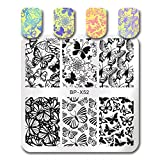 Born Pretty Nail Art Stamping Plate Butterfly Flower Dreamlike Classic Style Manicure Print Template Image Plate BP-X52