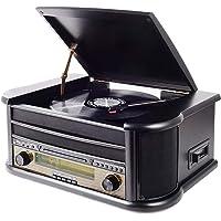 MUSITREND Nostalgie Musikanlage mit Plattenspieler, Retro Stereo Kompaktanlage mit DAB Radio, Bluetooth CD Player USB…