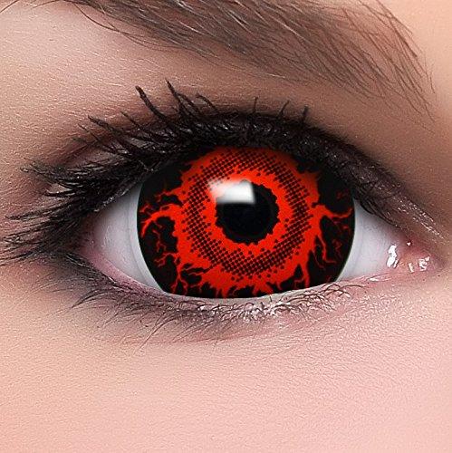 Farbige Mini Sclera Kontaktlinsen Lenses Cataclysm inkl. Behälter - Top Linsenfinder Markenqualität, 1Paar (2 Stück)