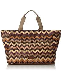 GERRY WEBER Sunrise Handbag XL - Bolso de asas de Material Sintético para mujer Morado Violett (purple 350) 55x20x32 cm (B x H x T)