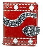 Shagwear Junge-Damen Geldbörse, Small Purse Designs: (Schlange Rot/Snake)