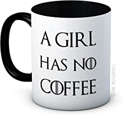A Girl Has No Coffee - Arya Stark Game of Thrones Parodie - Hochwertigen Kaffee oder Tee Tasse