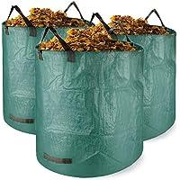 Weiao Sacco da Giardino 3 x 272L Borse da Giardino Sacchi per i rifiu Ti da Giardino Sacco da Giardinaggio in Robusto Tessuto in Polipropilene (PP) Pieghevoli Riutilizzabile Sacco per Raccolta
