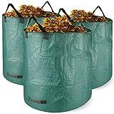 Weiao Sac Jardin 3 x 272L Sacs de Jardin Étanche Sac de Déchets de Jardin Autoportante et Pliable Sacs Poubelle pour Les de Jardin Réutilisable Sac Jardinage Resistant Sac à déchets de Jardin