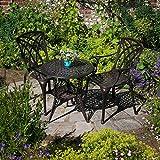 Conjunto de bistro con mesa IVY 63cm y 2 sillas ...