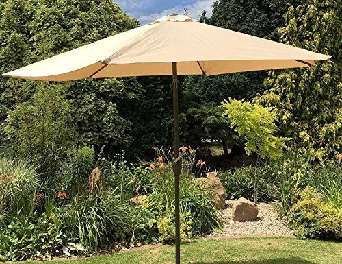 UK-Gardens Sombrilla de jardín Grande de 2 m, 2, 7 m o 3 m de Metal con manivela e inclinación – 10 Colores 3 tamaños: Amazon.es: Jardín
