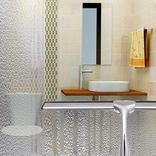 61FzCOPJtjL - wonderfulwu acero inoxidable y TPE de goma rasqueta limpiacristales de ducha con ventosa para baño espejo limpiaparabrisas