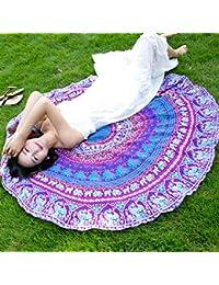 L Bufanda De Playa S315 Hilado De Nieve Mujer Fresco Ultra Delgado Protector Solar Redondo Toalla De Playa…