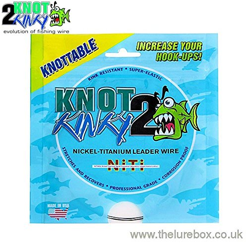 Knot 2 Kinky Knottable Titanium Trace 4.6m 35lbs (15.9kg) 4.6m (Steel Leader Wire)