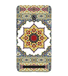Fiobs Rangoli as layers Designer Back Case Cover for Asus Zenfone 5 A501CG