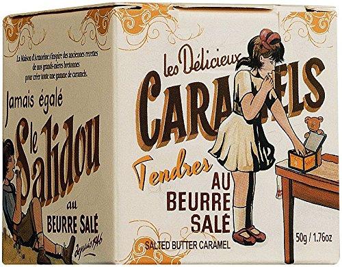 La Maison d'Armorine Karamellbonbon mit gesalzener Butter, 50g. Box