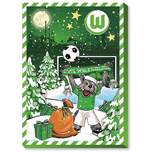 Preisvergleich Produktbild VFL Wolfsburg Adventskalender mit feinster Vollmilchschokolade (120g)