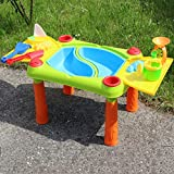 Sand- & Wasserspieltisch / Kindertisch mit Klappbarem Deckel und Zubehör