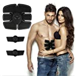 Abs Trainer/EMS Muscle Stimulator Toning Belts Ab Toner Fitness Training 6 Modes Workout Machine With Men and Women