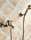 Computadoras Y Softwares Best Deals - KISSRAIN® Baño de pared montado en latón grifo de la bañera con ducha de mano
