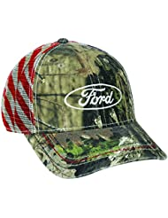 Mossy Oak 6 Panel Structured Mesh Back Snap Closure Ford Break Up Country Cap