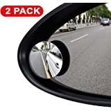 ILYPLUS Blind Spot Mirror, 360°Rotatable Waterproof Convex Rear View Mirror Adjustable Wing Mirror BlindSpot Side Mirrors for