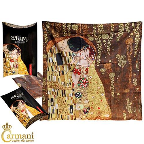 Carmani Sciarpa da donna fazzoletto da collo copricapo Gustav Klimt pittore di opere darte