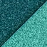 Fabulous Fabrics Fleece Doubleface mintgrün — Meterware ab 0,5m — zum Nähen von Jacken und Mänteln, Kleidern und Sweatshirts