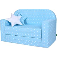 Lulando Classic Canapé/fauteuil pour enfant - Fonction lit - Pour dormir et jouer - Motif petites étoiles