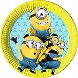 8 Minions Partyteller Pappteller Partydeko Geburtstag