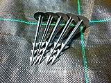 Confezione da 100 picchetti di ancoraggio multiuso, per il fissaggio a terra di tessuti non tessuti antiinfestanti, reti e tanto altro