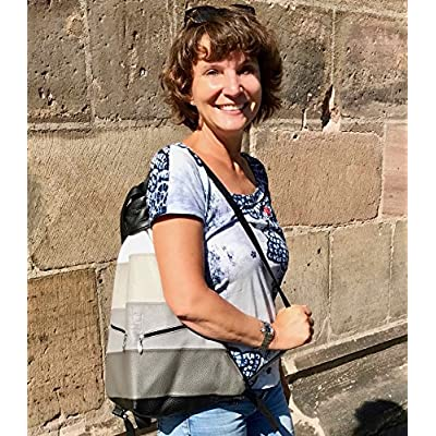 Hands-free Handbag Grey Zebra - handmade-bags