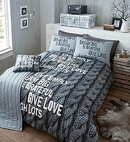 5pc Bed In A Bag Bedding Set With 2 Pillow Cases 1 Bed Runner and 1 Cushion Cover Duvet Cover Set Double Bed Printed Quilt Cover Set Vintage Luxury, Knitted Print