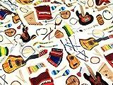 Premier Quiltstoff, Baumwolle Classic Instrumente–Fat
