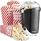 VonShef Fat-Free Hot Air Popcorn Maker with 4 Popcorn Boxes Included