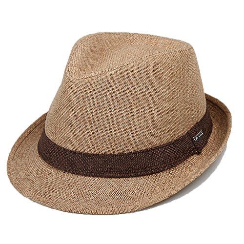 Doublebulls hats Chapeau Trilby Jazz De Soleil Homme Garçons Printemps Automne Été 3 Tailles