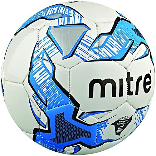 Mitre Impel Unisex Adult Training Football, Multicolor (White/Blue/Black), Size 3 (Without Ball Pump)